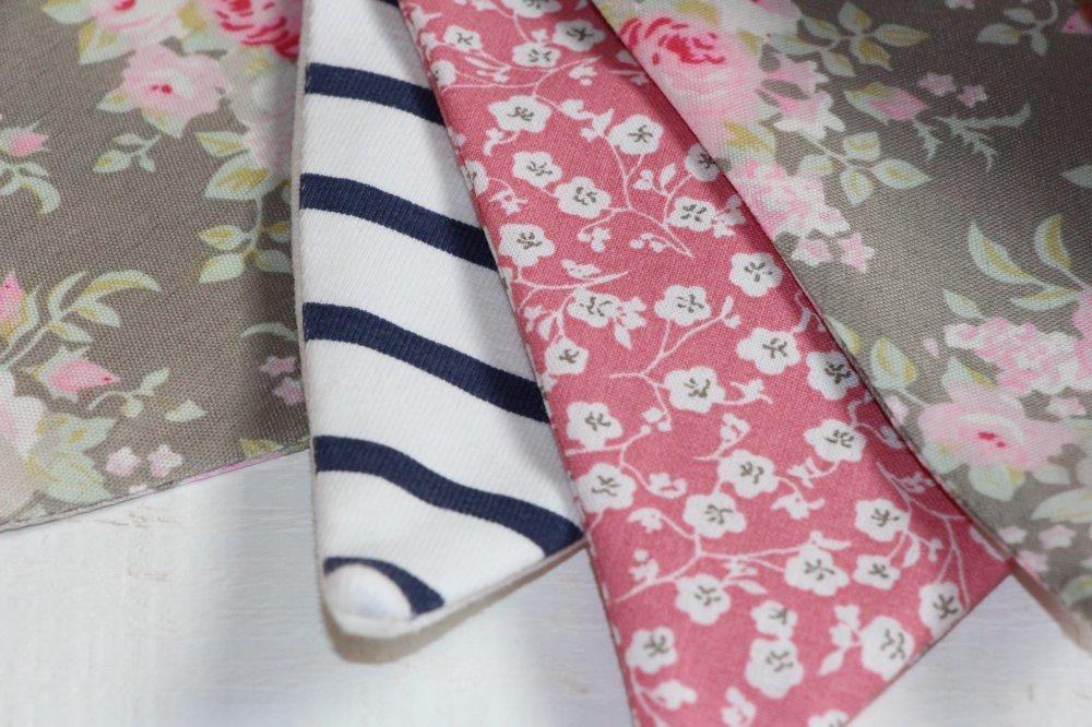 Guirlande fanions (n°5) marin/rose