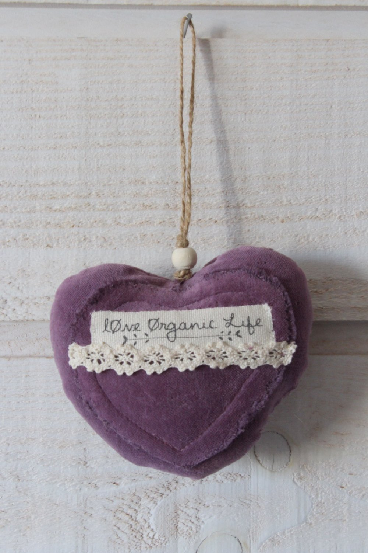 Coeur en velours violet (Love Organic Live) (n°43)