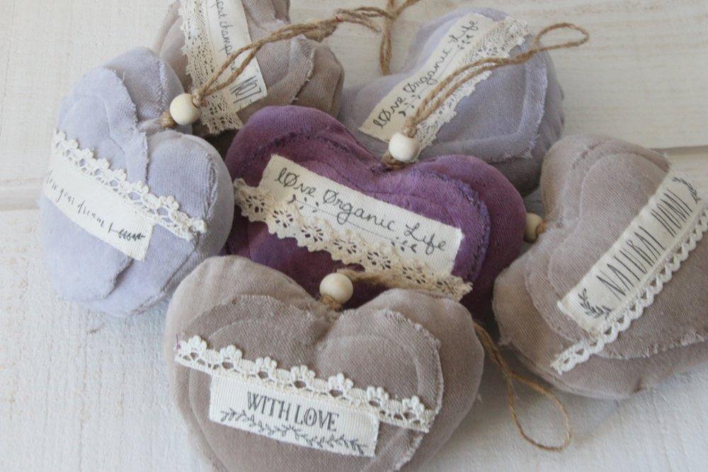 Coeur en velours violet (Follow your dream) (n°45)