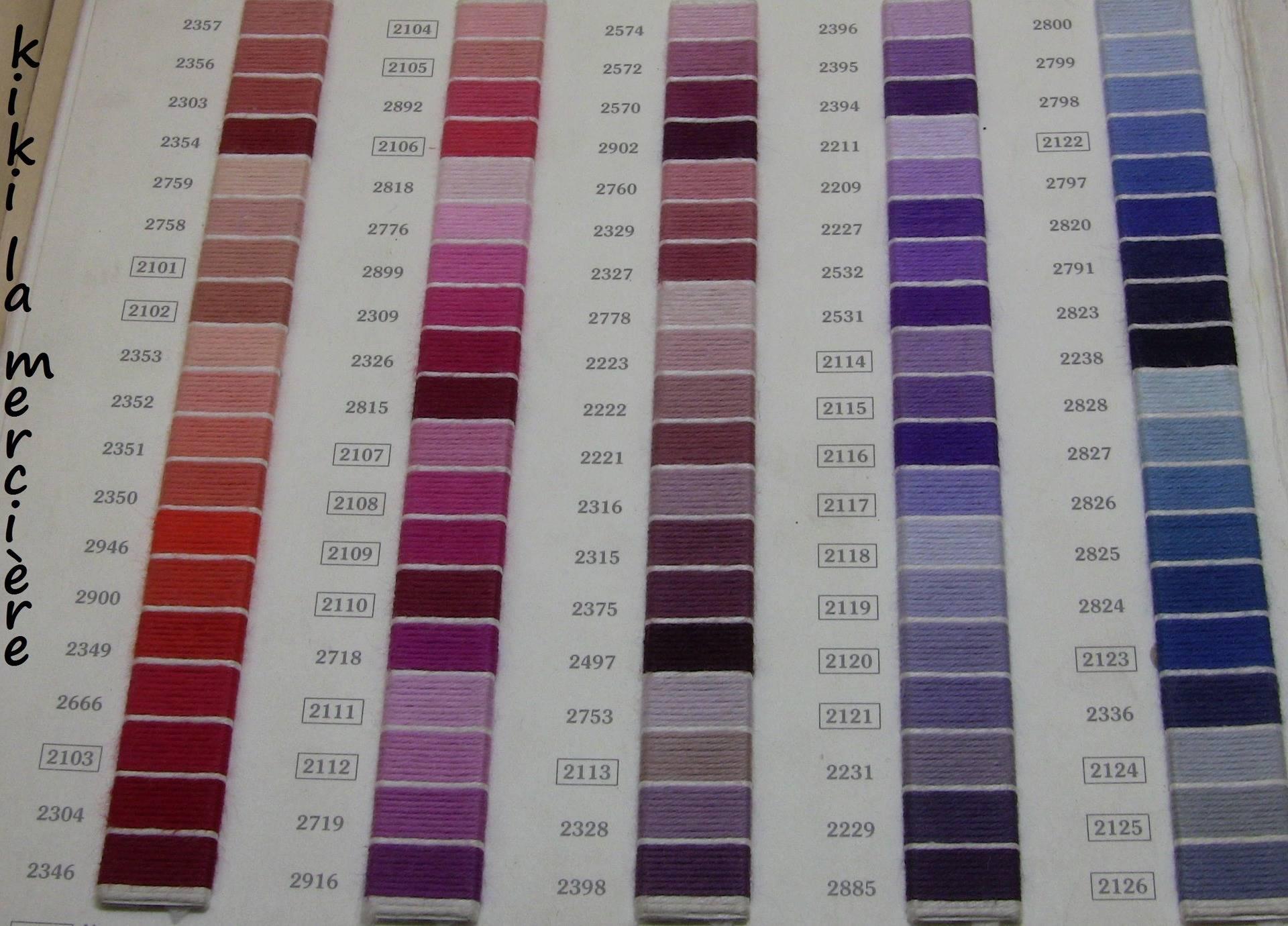 n°2579 fil retors DMC a broder en coton pour canevas tapisserie ou bracelet échevette de 10 m