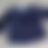 Blouse unisexe, manches longues, 6 mois en coton marine imprimé de poissons bleu