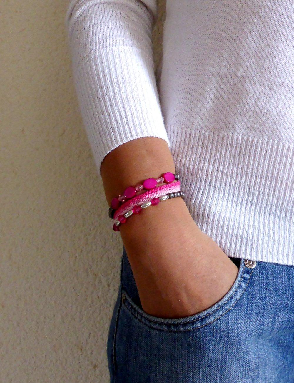 lot bracelet brésilien, bracelet perles,  élastique