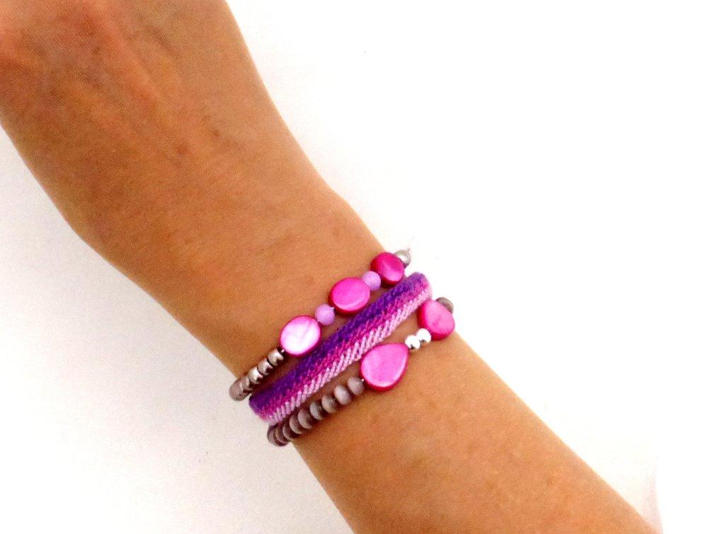 Lot de bracelets perles et brésilien