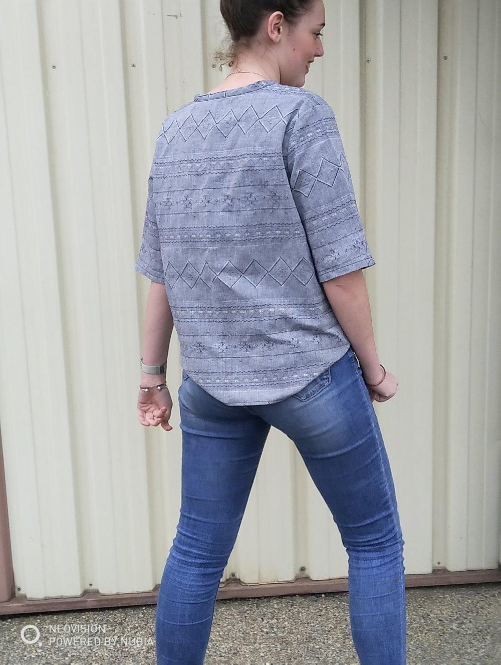 top bleu jean