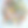 X8,cabochon rond,résine,20 mm,multicolore,transparent,véritable fleur miniature séchée,appêt,fourniture