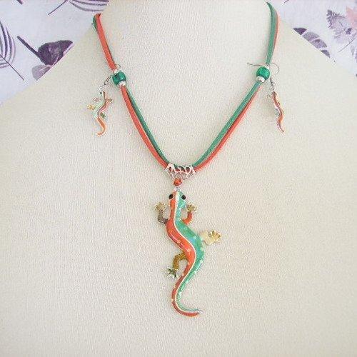 collier fantaisie salamandre