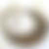 Bijou fantaisie,collier de perles,pierre gemme,oeil de tigre,,multirangs,marron,fait main,mode femme