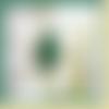 Bague artisanale ajustable,cabochon ovale pierre malachite,plaqué or