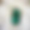 Grande bague ajustable,cabochon rectangle swarovski,vert émeraude
