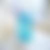 Grande bague ajustable,cabochon rectangle swarovski,bleu turquoise