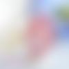 Grande bague ajustable,cabochon ovale swarovski,rose