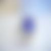 Bague ajustable,bleu saphir,cabochon rond,cristal swarovski,métal argenté,laiton