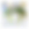 Bijou de sac ou porte clés,argenté,pendentif chat,ruban satin,vert, kaki,anis,accessoire