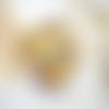 Miroir de poche,rond de 70 mm,cabochon verre,motif moderne,chat,noir,ocre jaune,décor fleuri,métal argenté