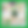 Braclet jonc,cabochon pierre gemme,serpentine,vert,plaqué argent