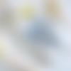 Création,collier sautoir,sautoir,ethnique,bohème,patiné bleu,pendentif fleur,perle,métal bronze,bijou fantaisie,mode femme