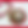 Collier,reine d'égypte,bijou création,pendentif bois,rouge fuchsia,