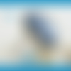 Bague ajustable,argent 925 sterling,cabochon cyanite bleu,pierre gemme