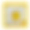 Bague ajustable plaqué argent,ovale,cabochon pierre gemme,jaune,bijou mode femme