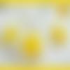Parure plaqué argent,collier pendentif,boucles d'oreilles,cabochon pierre gemme,jade jaune
