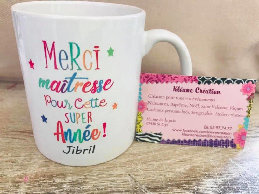 Mug maîtresse #kleanecreation