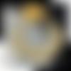 Collier en or jaune 18k avec petites perles de culture