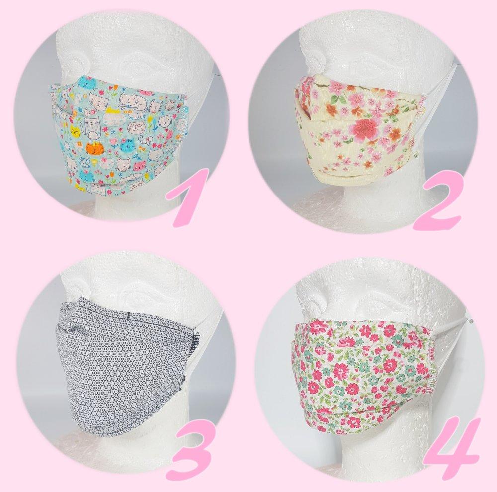 Masques barrière en tissu lavables