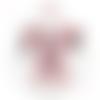 Doudou lapin tissu aux grandes oreilles rose et bleu.originale et unique.norme ce.