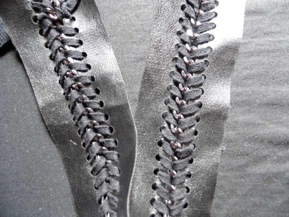 galon simili chaine et lacet