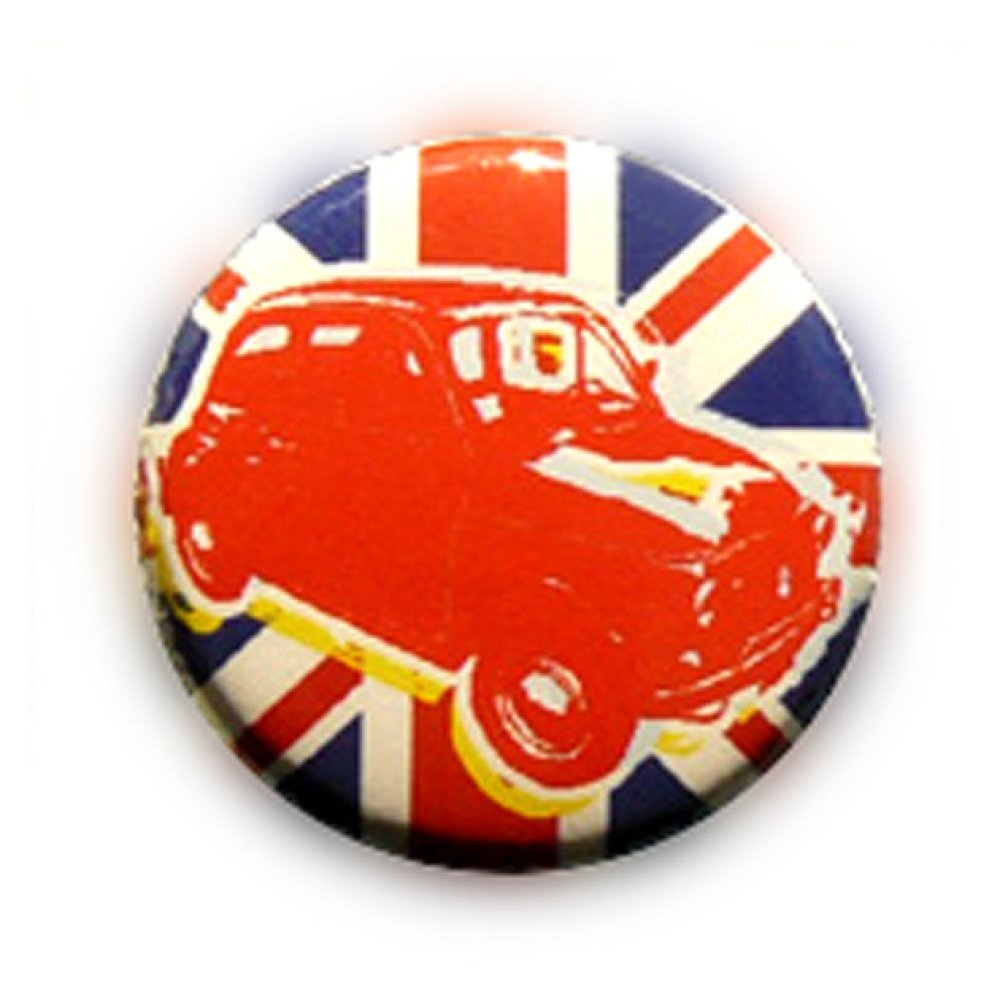 Badge BRITISH CAR UK anglais london pop 80's Ø25mm vintage retro 25mm