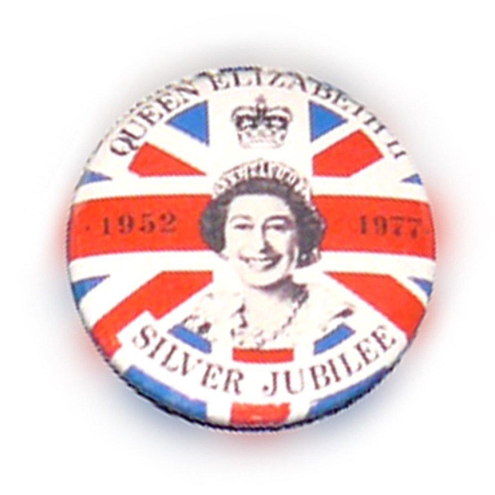 Badge BRITISH QUEEN UK anglais london England Reine d'angleterre pop 80's Ø25mm vintage retro