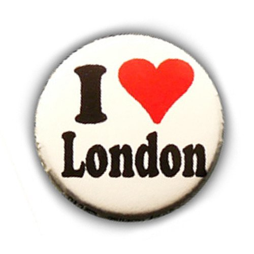 Badge I Love London Londres Heart Coeur England