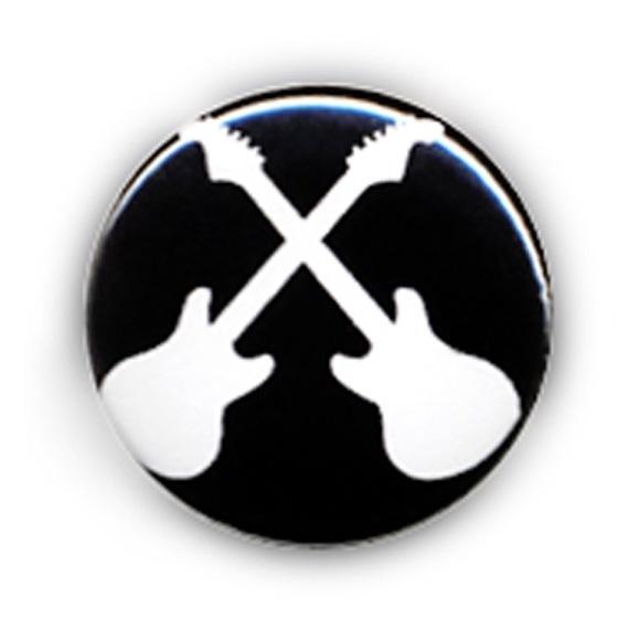 Badge PUNK ROCK GUITAR Rockabilly Kustom Lucky uk jack - 25 mm badges
