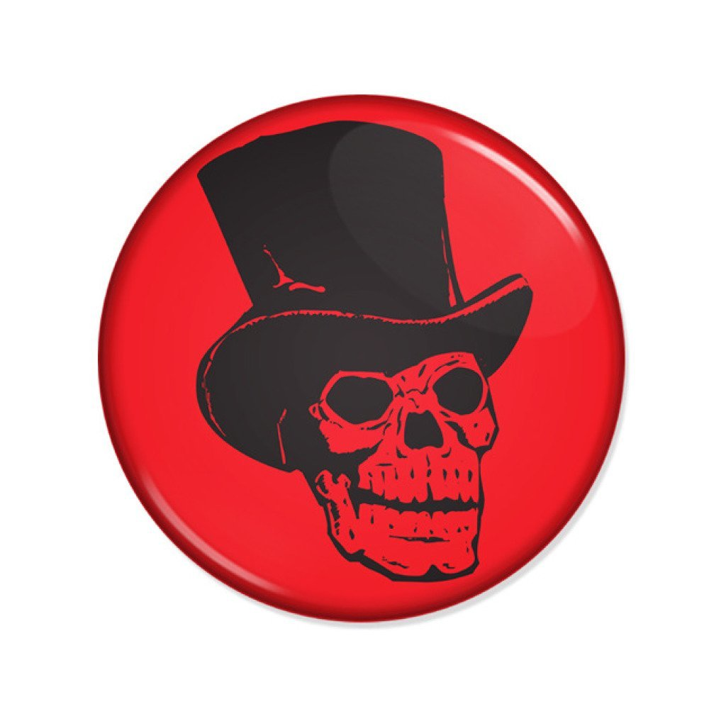 Badge SKULL DANDY Tattoo Punk Rock Kustom vintage rockabilly Ø25mm
