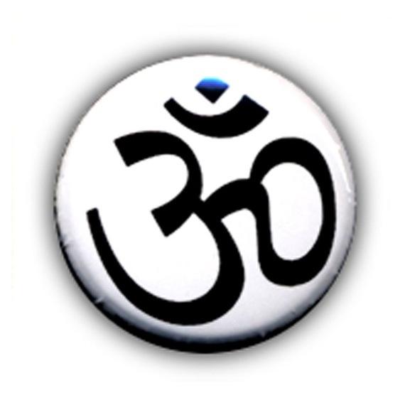 Badge Ohm zen cool peace love tranquility namaste tibet kawaii Ø25mm