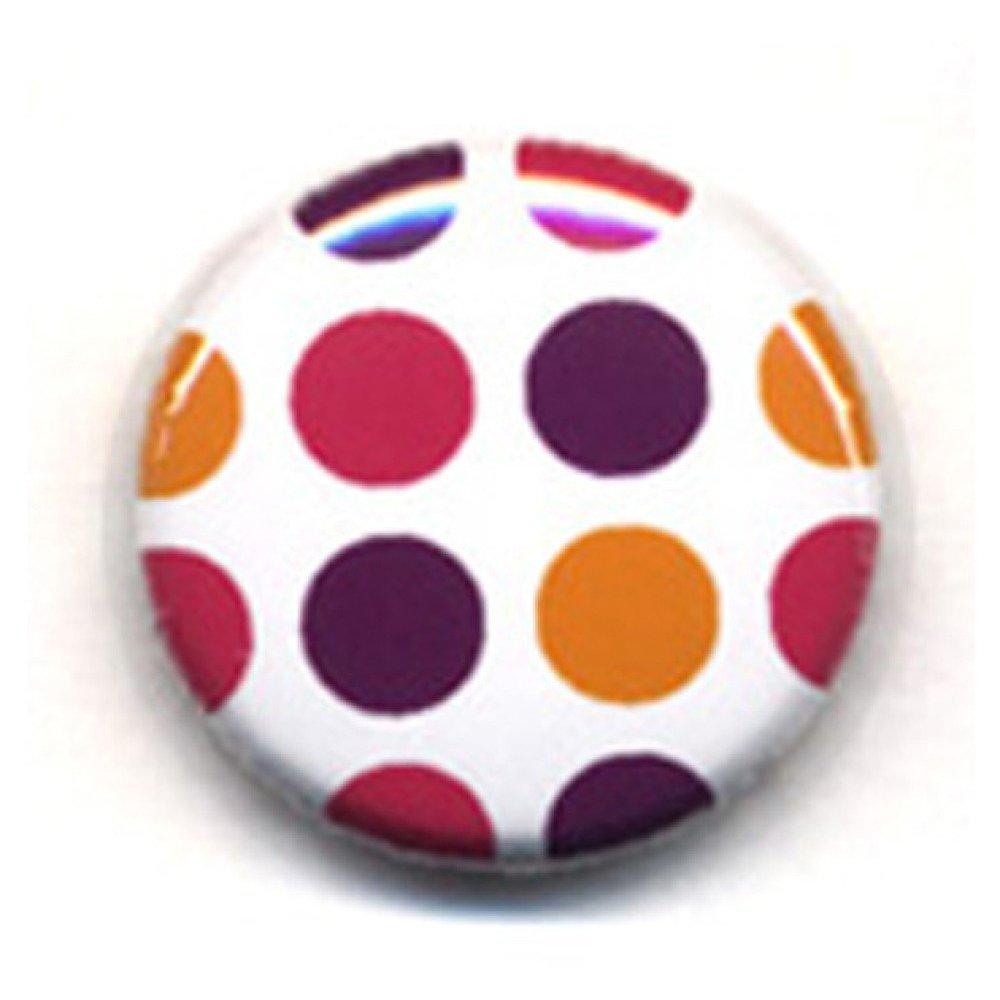 Badge Grands POIS ROSE ORANGE VIOLET Polka Dots Rockabilly Rock Ø25mm