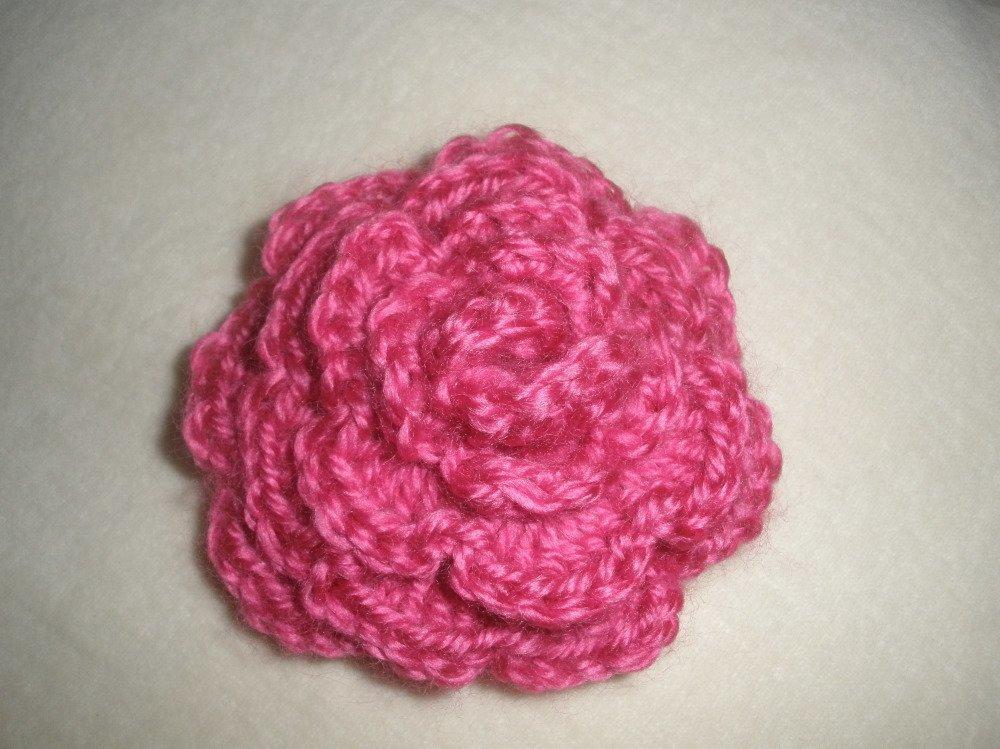 Rose fuschia  en laine
