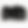 5 clips plastique noir pour sangle 15mm