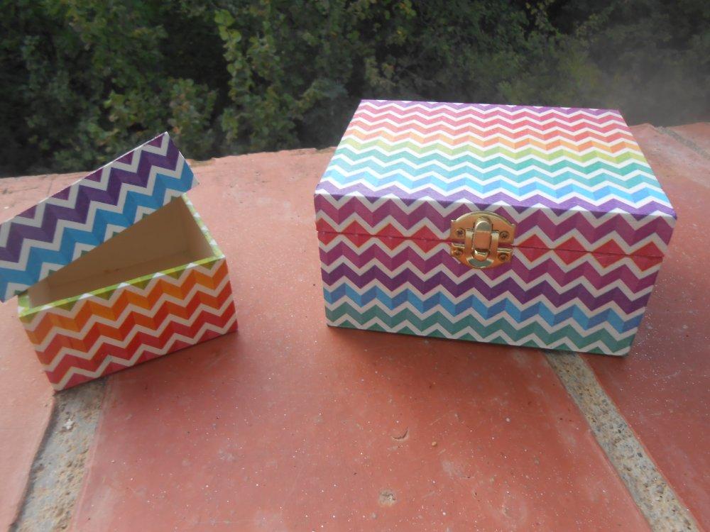serviette zig zag multicolore