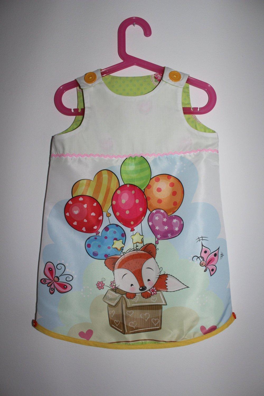 """Mignonne petite robe """"Petit renard en ballon"""" T 3 ans"""