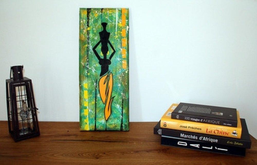 tableau peinture femme africaine