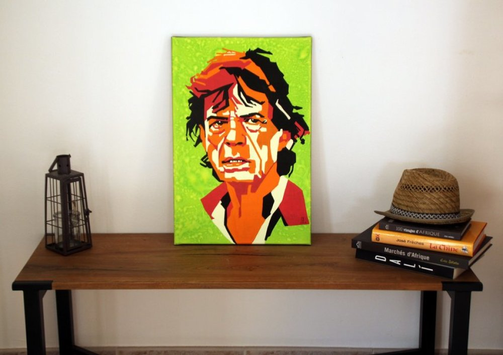 tableau Style pop-art : Mick Jagger