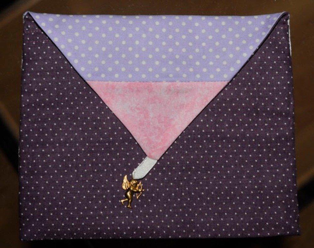 """Enveloppe brodée au point de croix """"La fée-fleurs N°7"""", prête à l'envoi et personnalisable (sur commande)"""