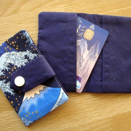 Porte-feuille carte de crédit ou de visite / carte de réduction / manches de carte de crédit /tissu - mont fuji