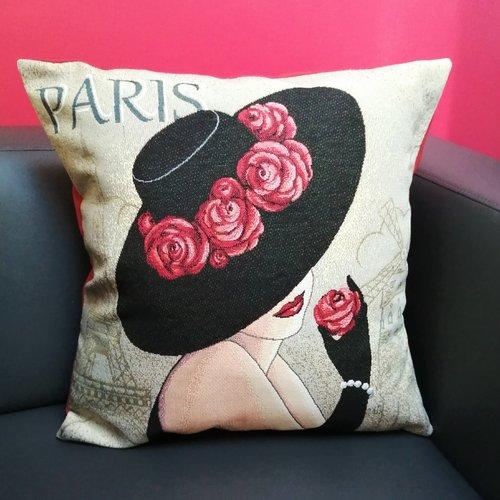 Taie d'oreiller paris haute couture, 50x50cm, décoration d'intérieur, enveloppe de coussin décorative, agrément de salon, femme fatale