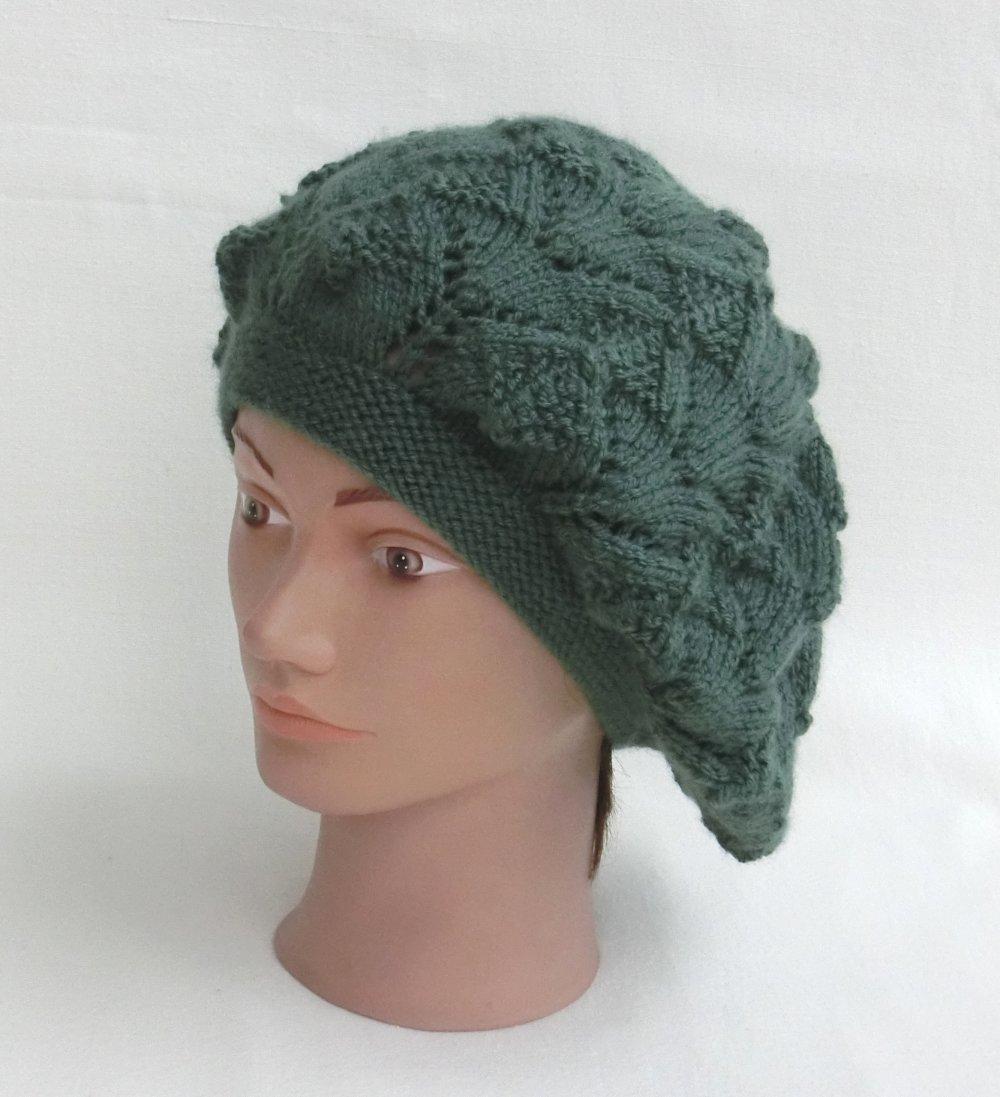 bonnet beret femme tricot