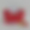 Panier de décoration en tissu imprimé noël, corbeille à chocolat, panière centre de table, cadeau, nouvel an ou étrennes