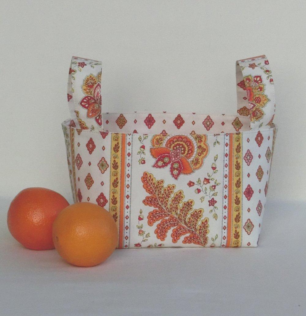 Chambre Provencale Idee Deco panier de rangement en tissu provençal, corbeille de décoration maison,  vide poche pour accessoire cuisine ou chambre, cadeau noël femme