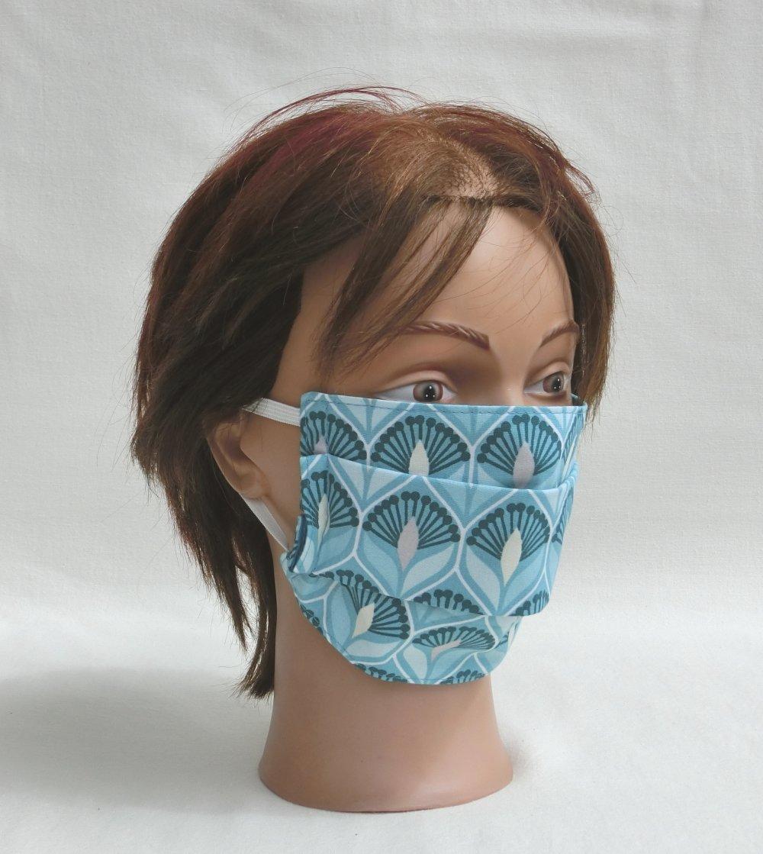 *VENDU.. Masque de protection lavable pour le visage en Tissu , Recommandation AFNOR, Masque barrière réutilisable Femme ou Adolescente