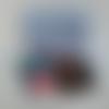 Portefeuille tissu provençal motif rameaux, porte cartes, etui pour chéquier, pochette à document, cadeau noël femme